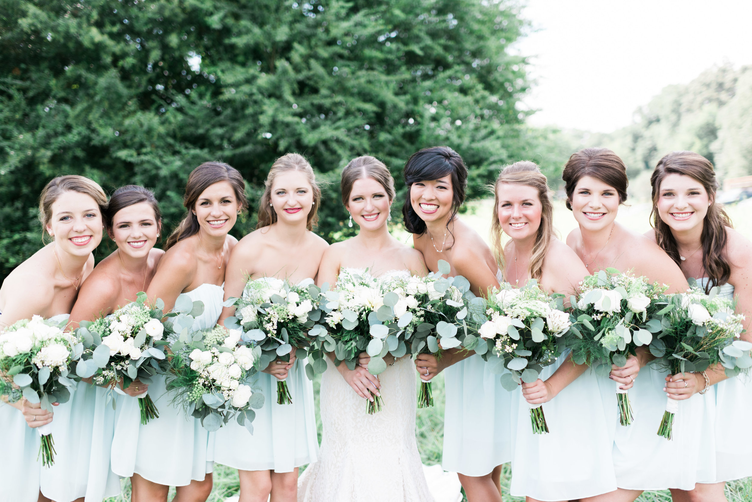 bridesmaids deeps south farm ellijay north georgia atlanta wedding photographer