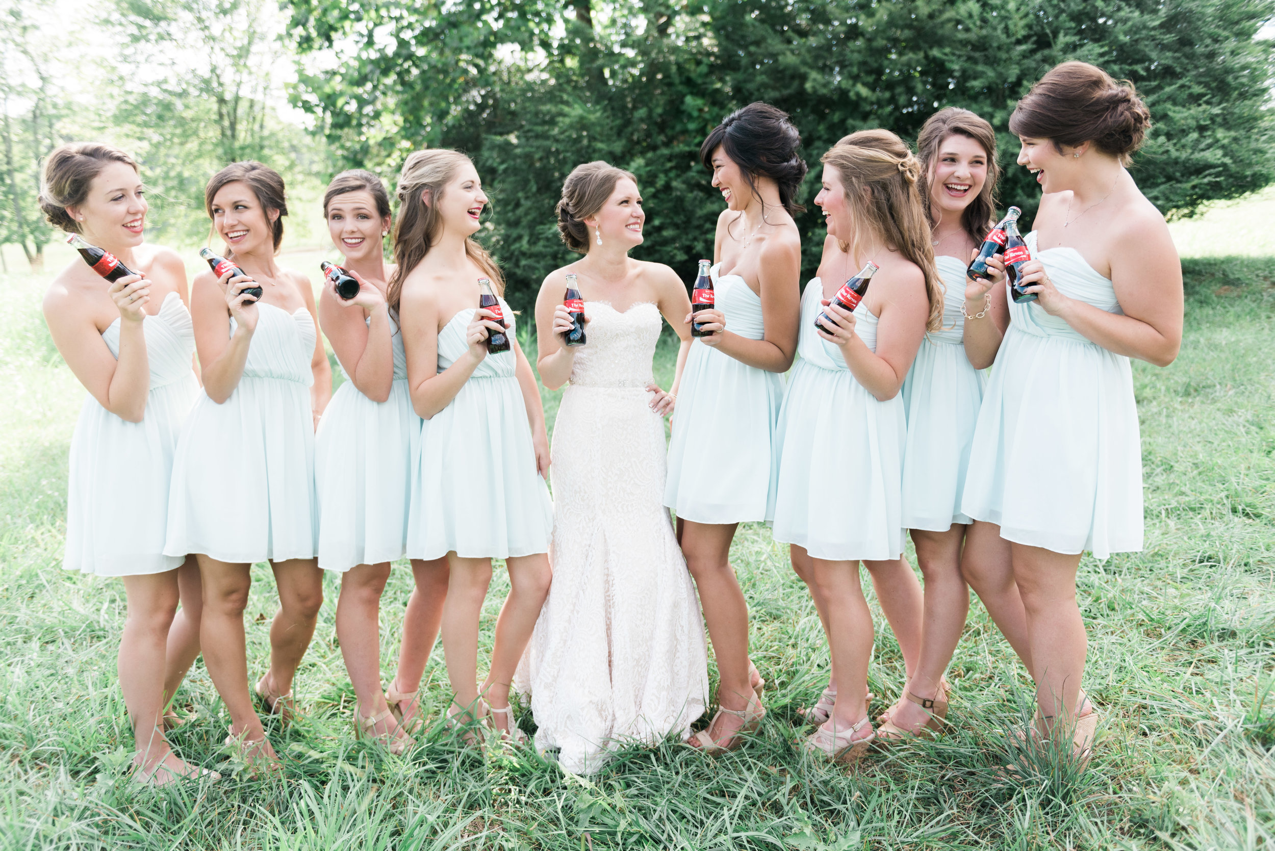 bridesmaids coca cola deeps south farm ellijay north georgia atlanta wedding photographer