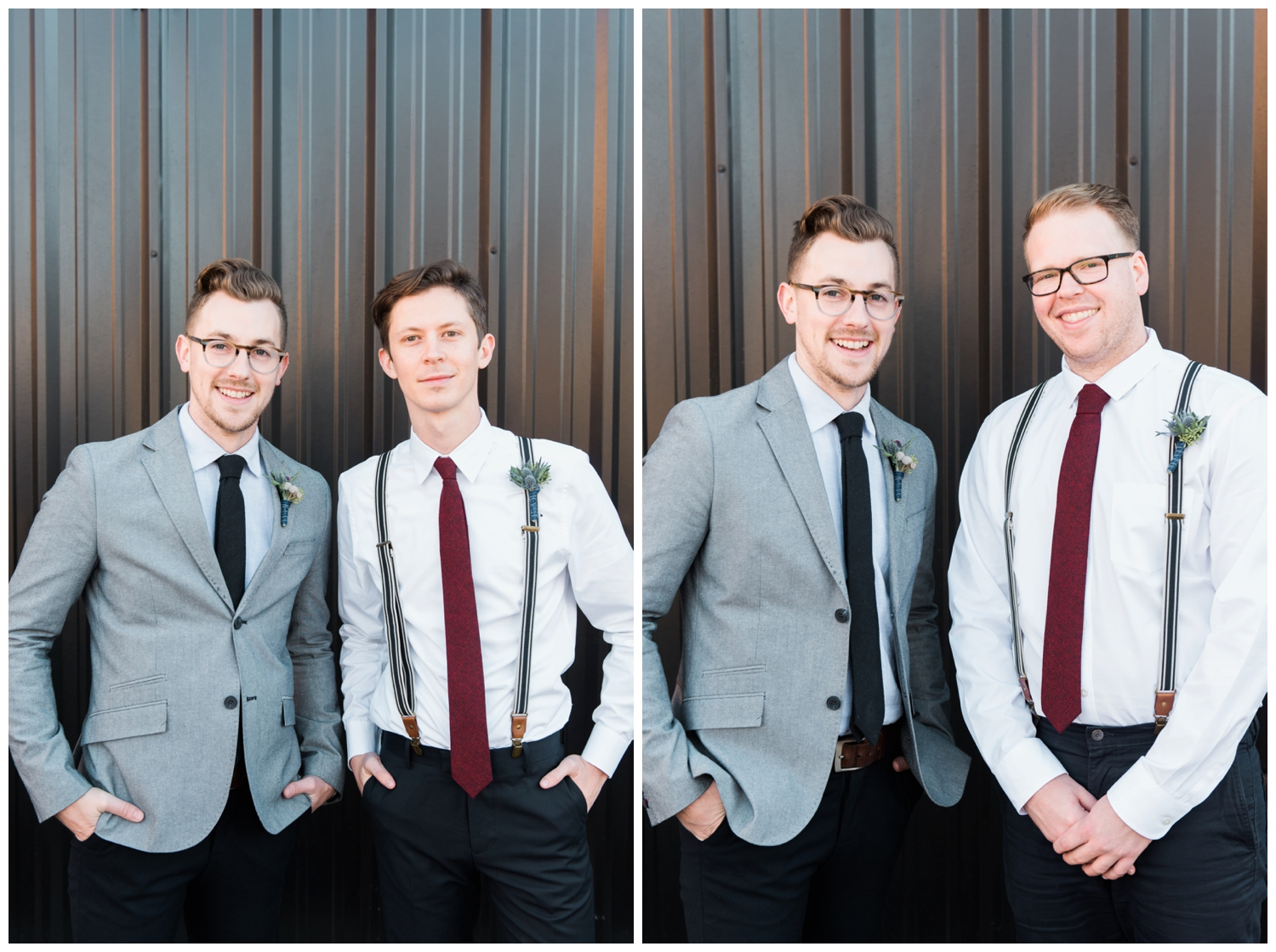 big fake wedding atlanta decatur three taverns groomsmen photography