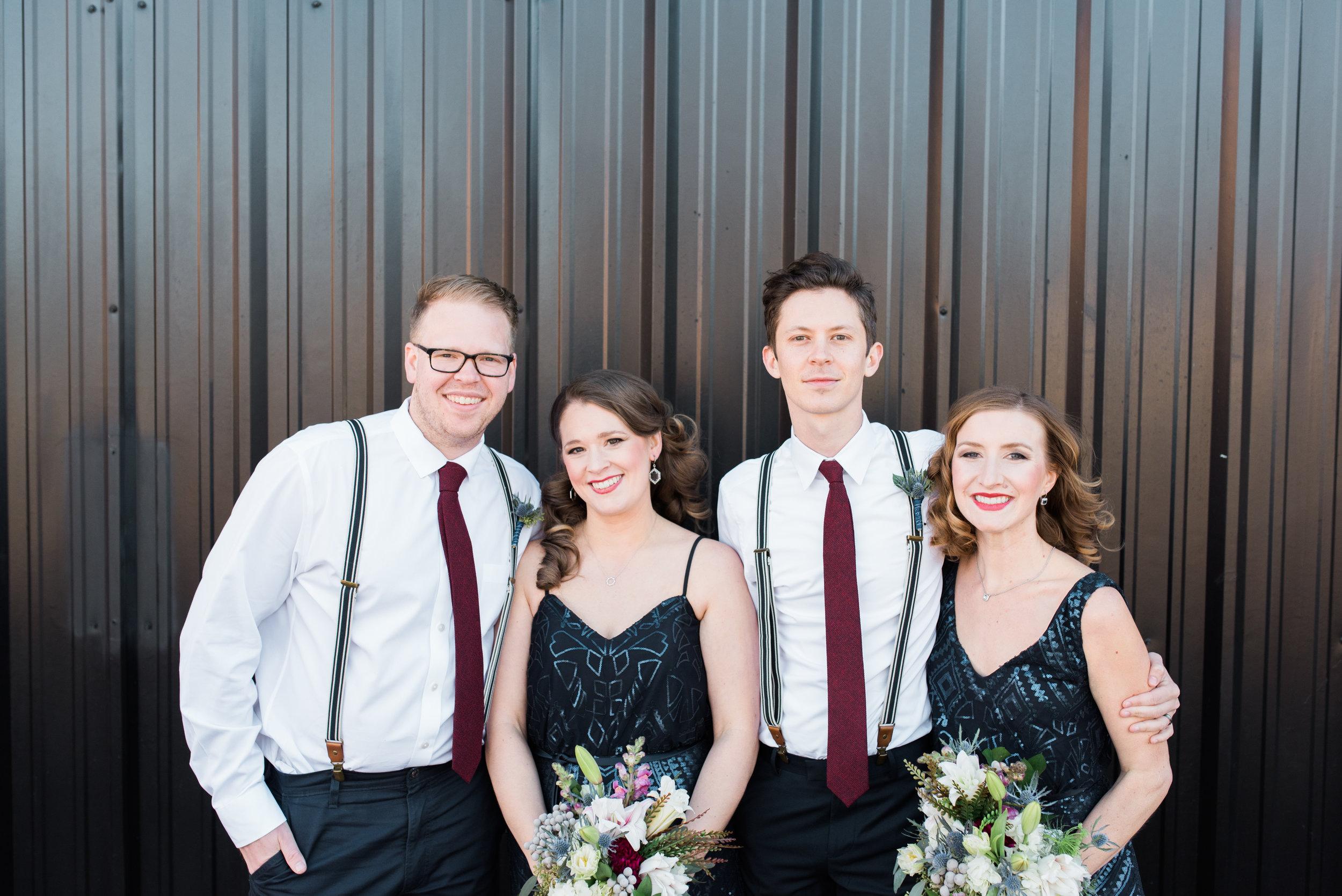 big fake wedding atlanta bridal party