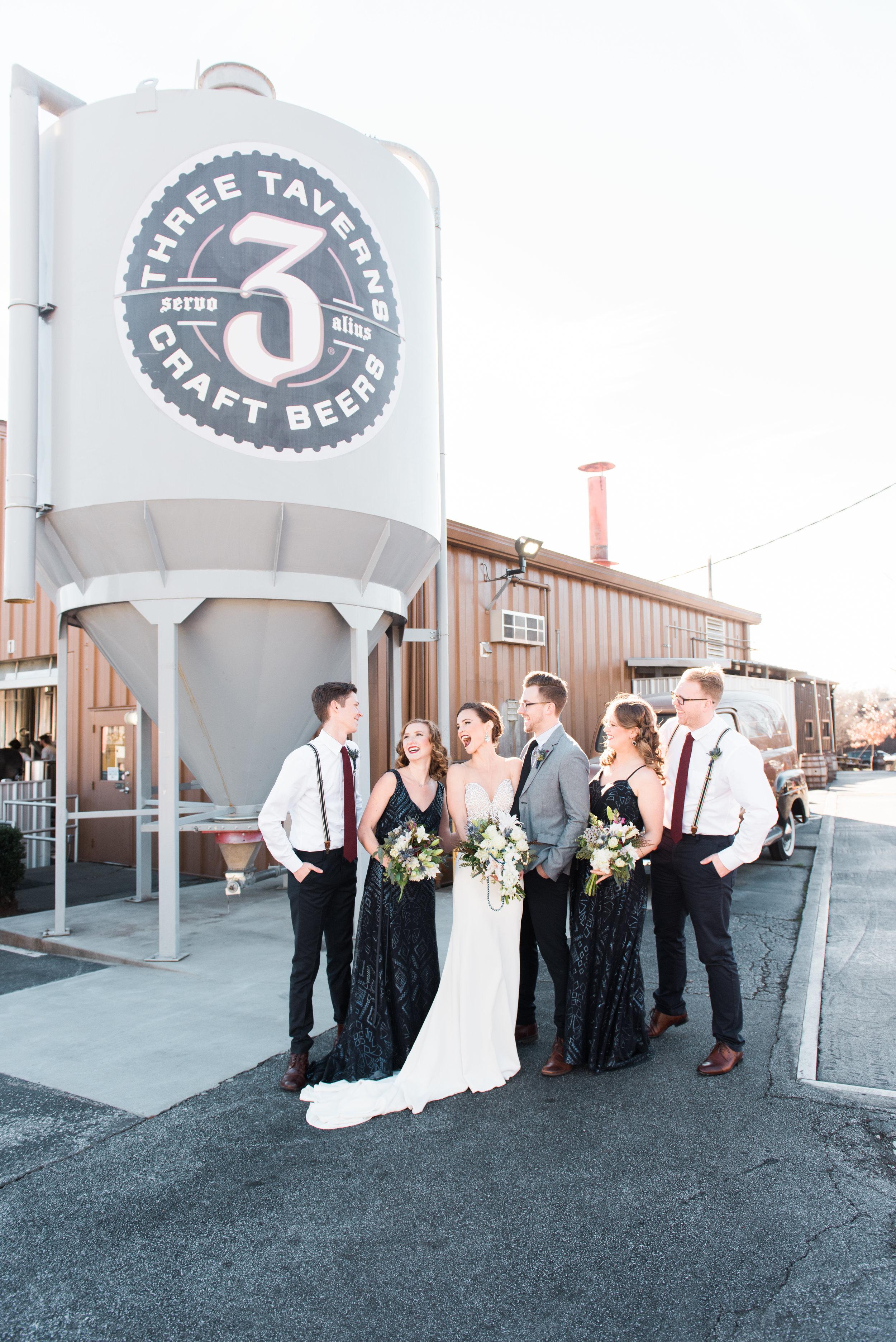 big fake wedding atlanta three taverns brewery decatur