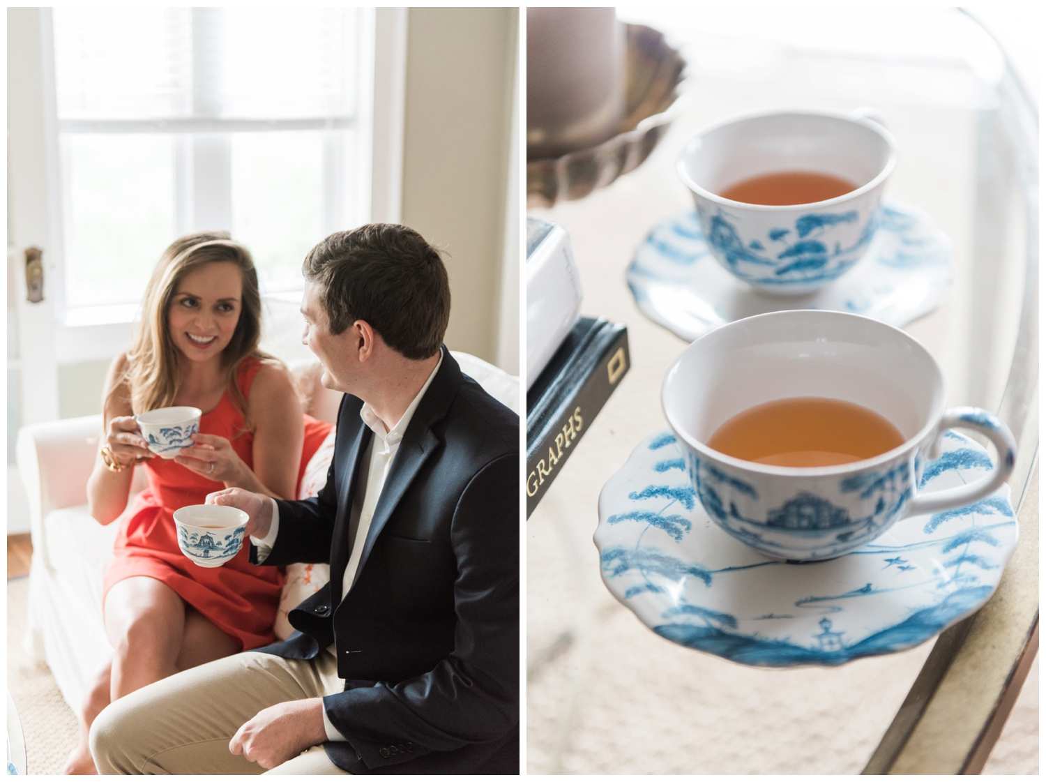 midtown atlanta engagement session tea