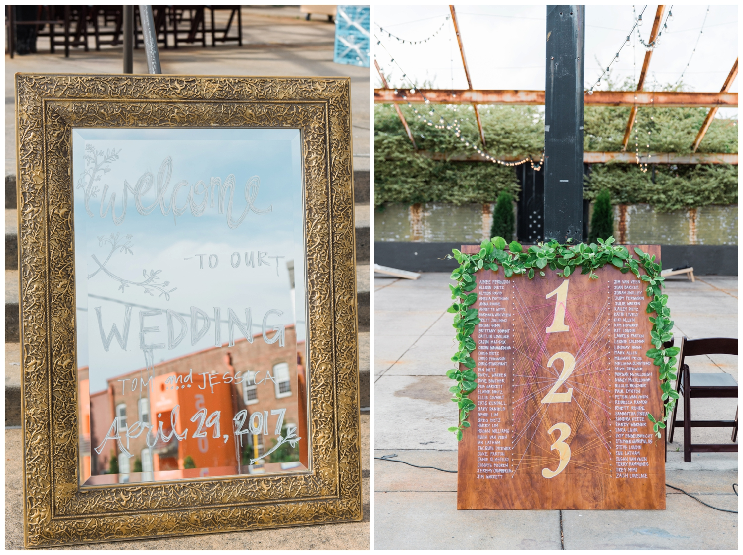 reception signage atlanta wedding photographer