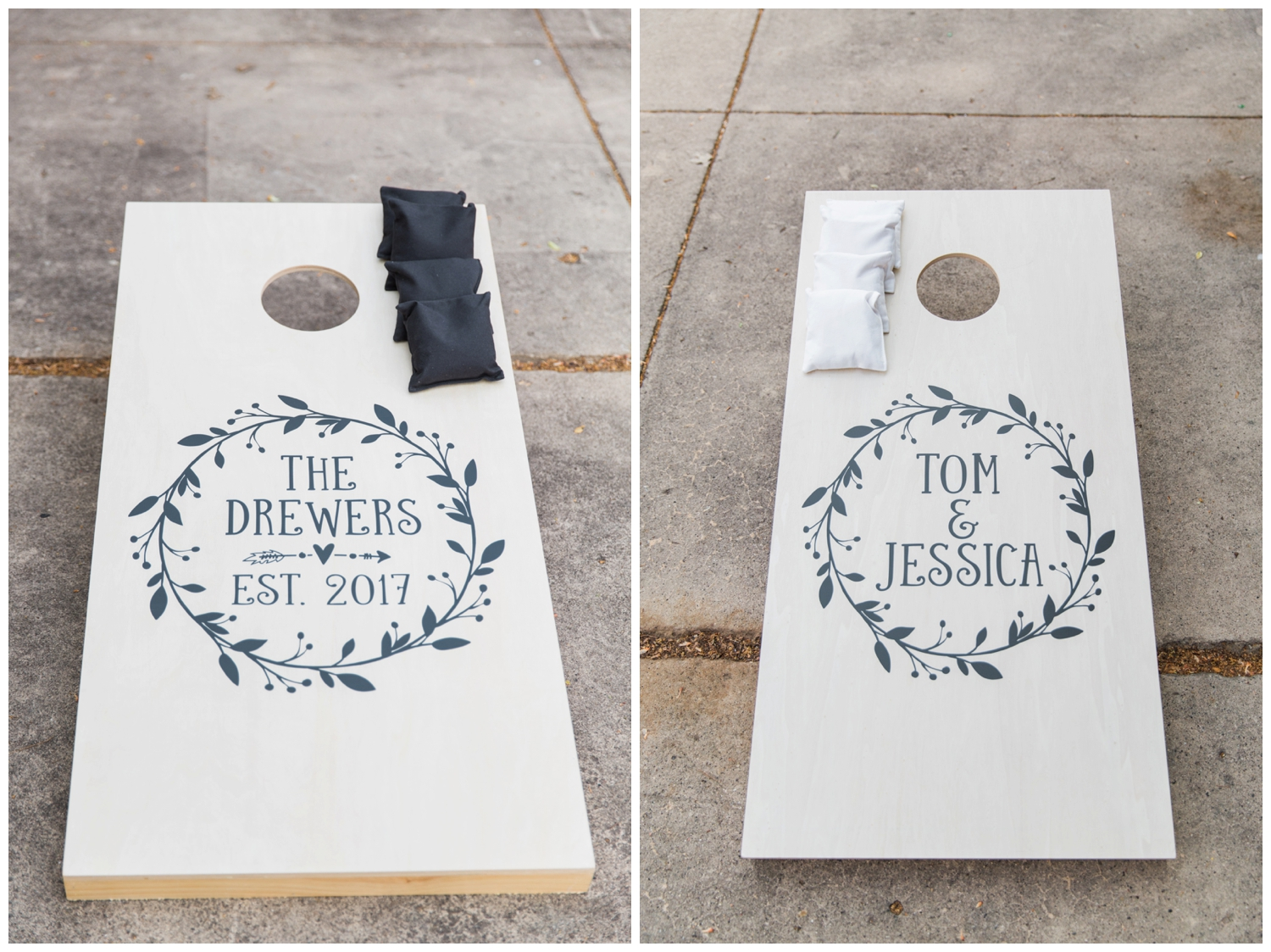 cornhole atlanta wedding photographer