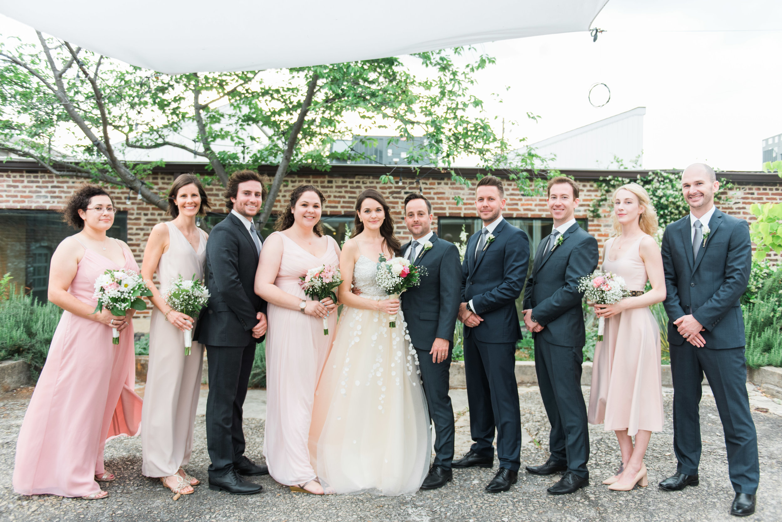 bridal party atlanta wedding photographer