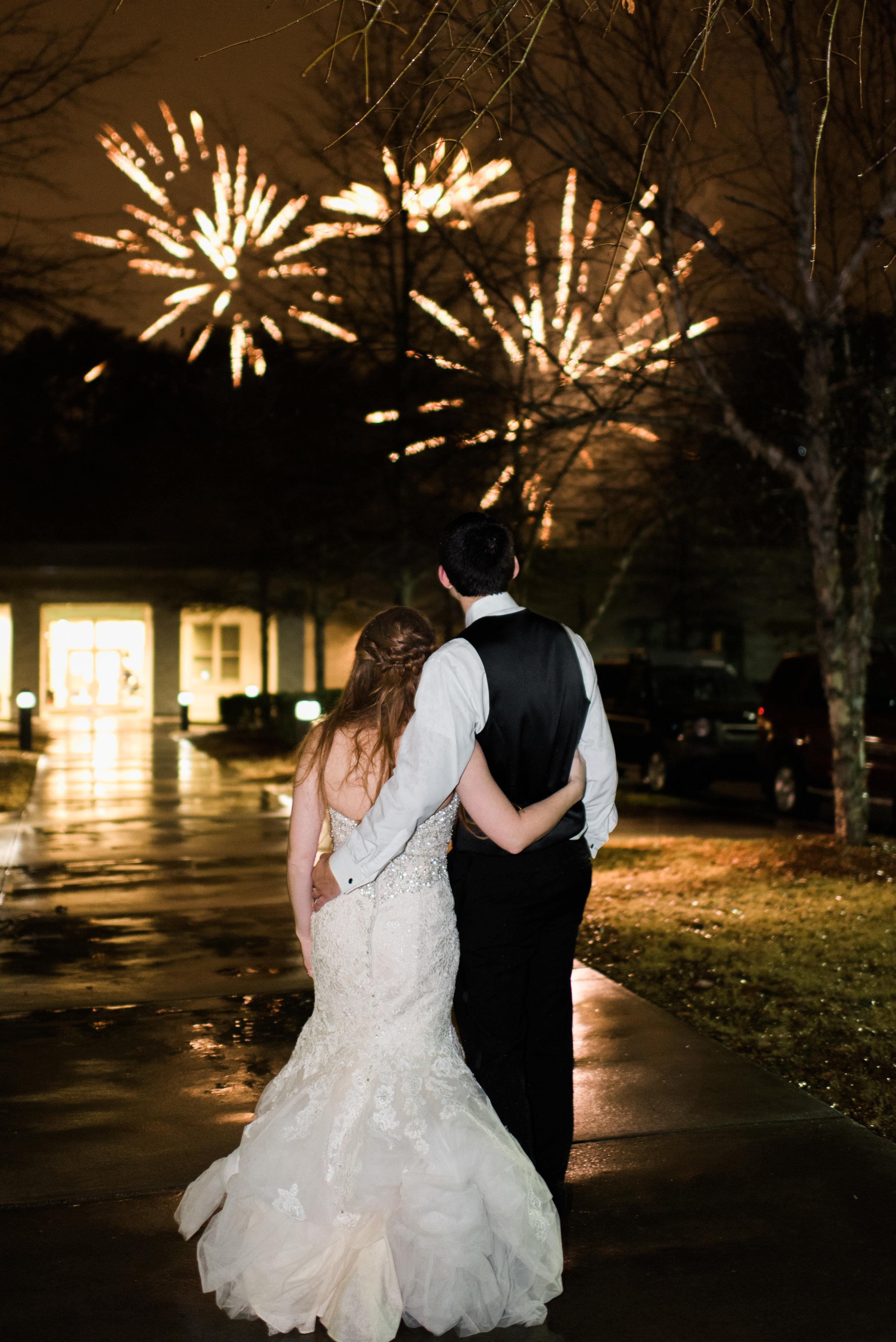 atlanta greek wedding fireworks