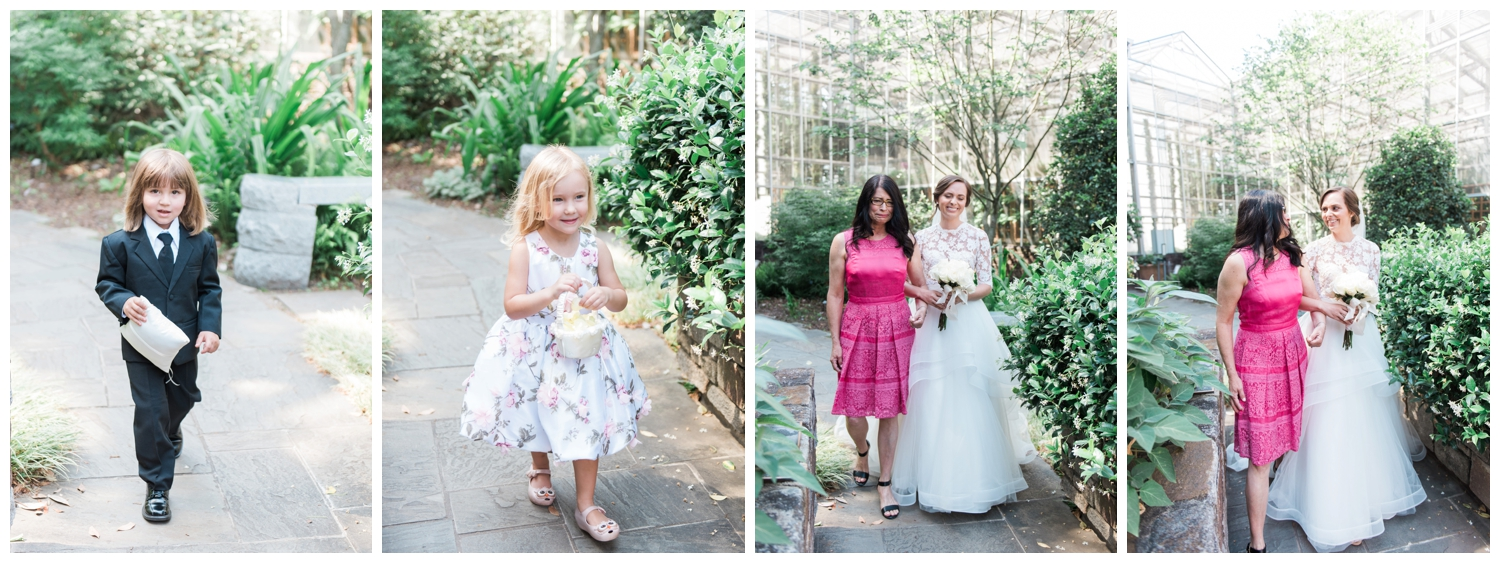 Niece and Nephew were flower girl and ring bearer and Anna's mom walked her down the aisle since her father passed away.