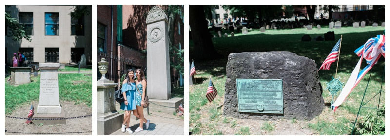 The Granary Burying Ground - Paul Revere, John Hancock, and Samuel Adams