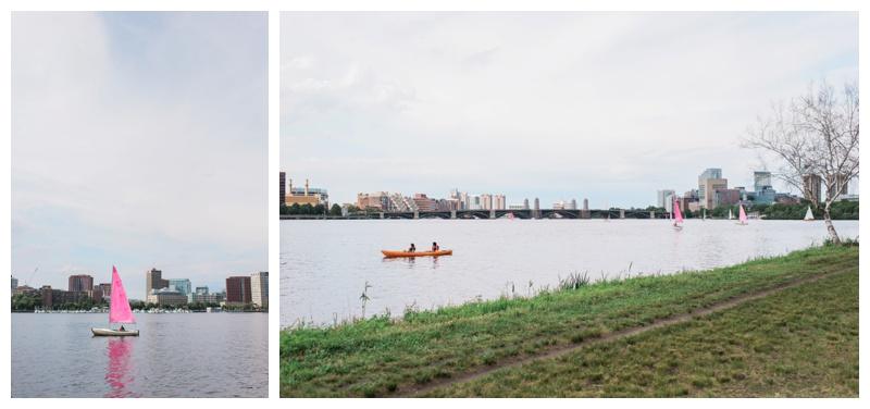 Walking along the Charles River
