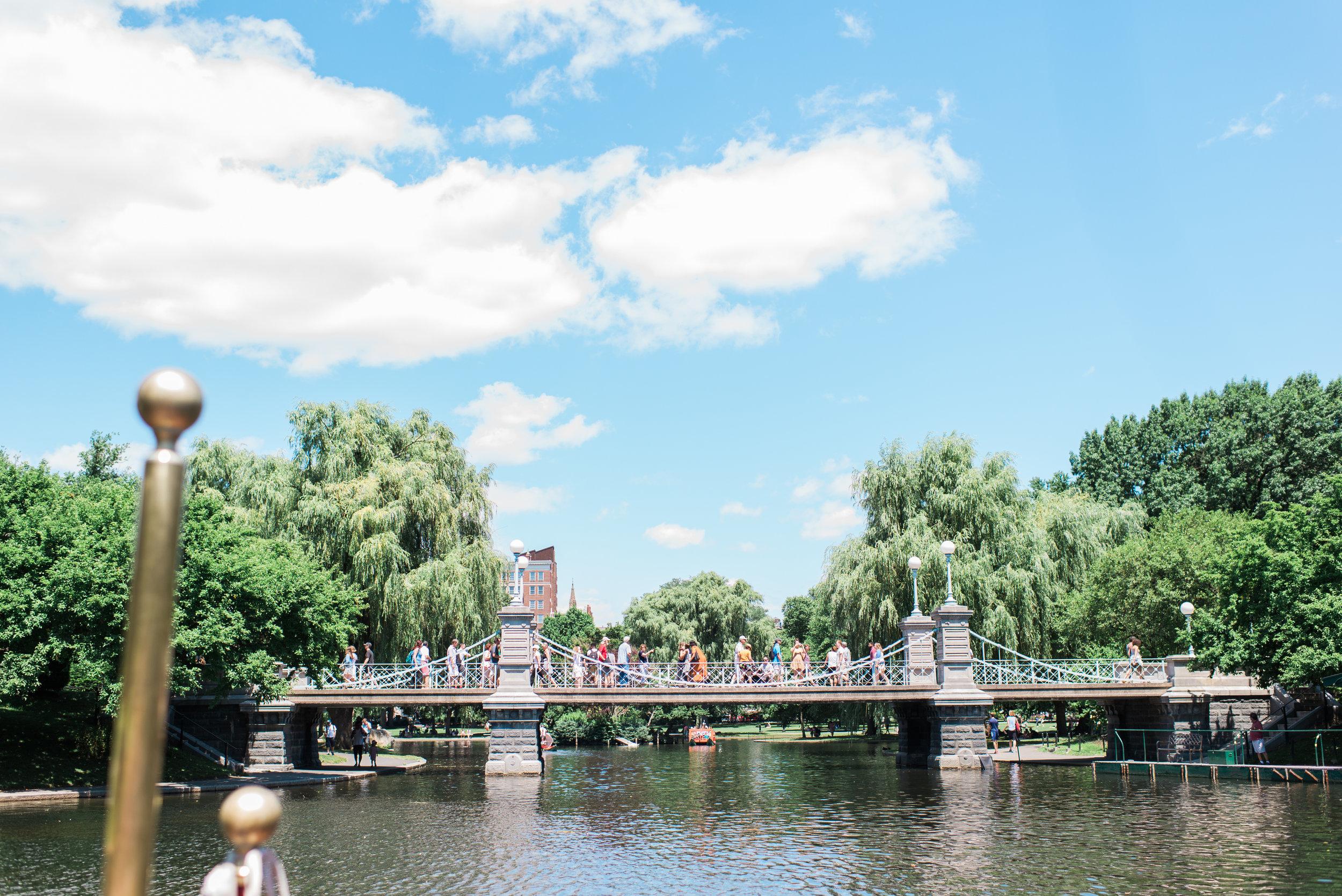 Riding the Swan Boat at the Boston Public Garden