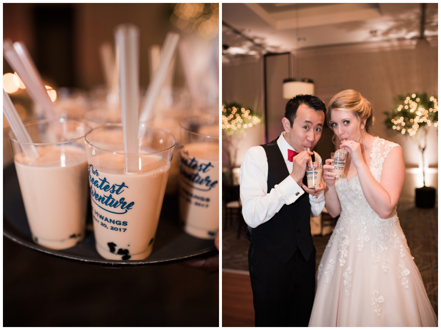 chateau elan wedding bubble tea