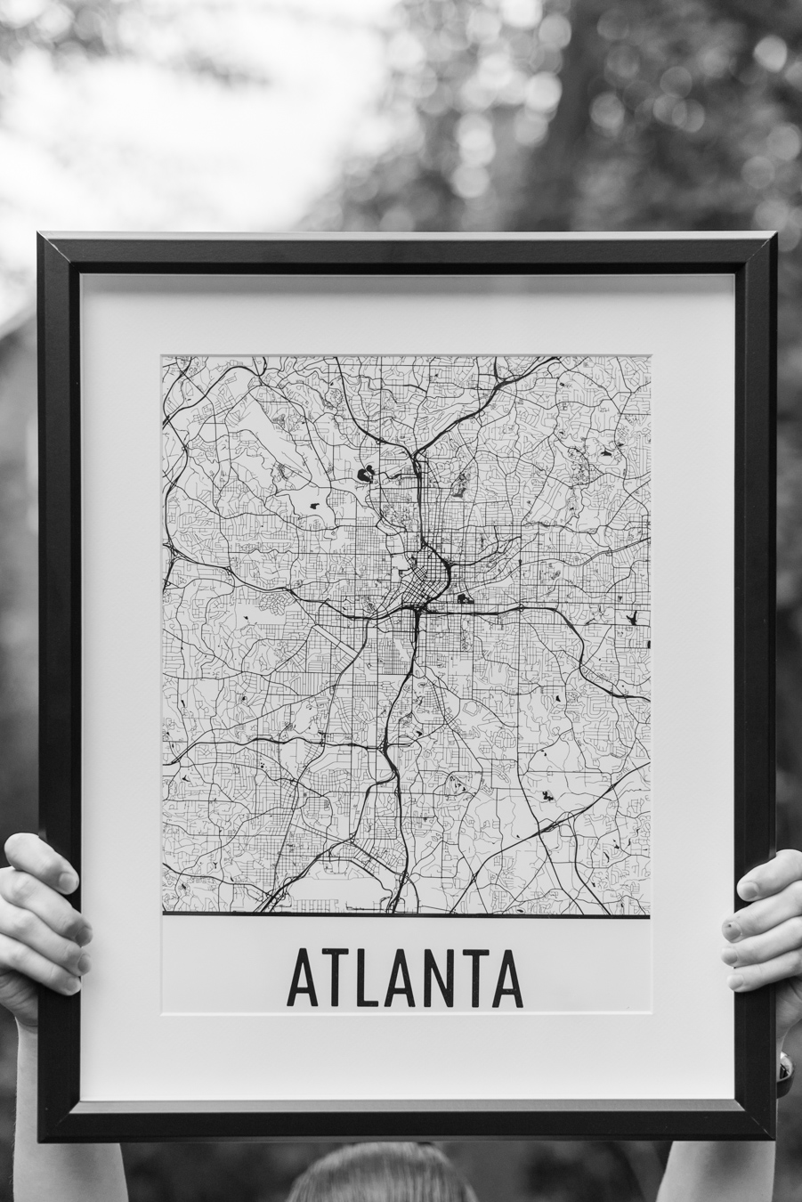 For this specific print -  https://www.modernmapart.com/products/atlanta-street-map-poster