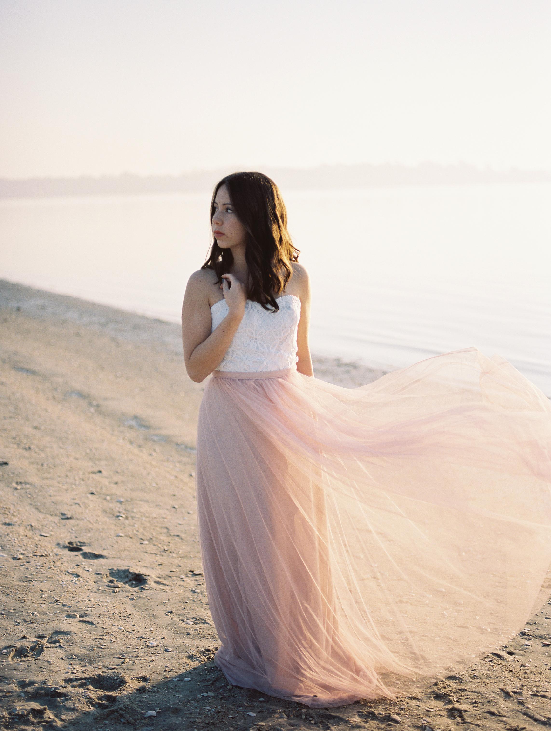 south carolina coastal beach bridal shoot