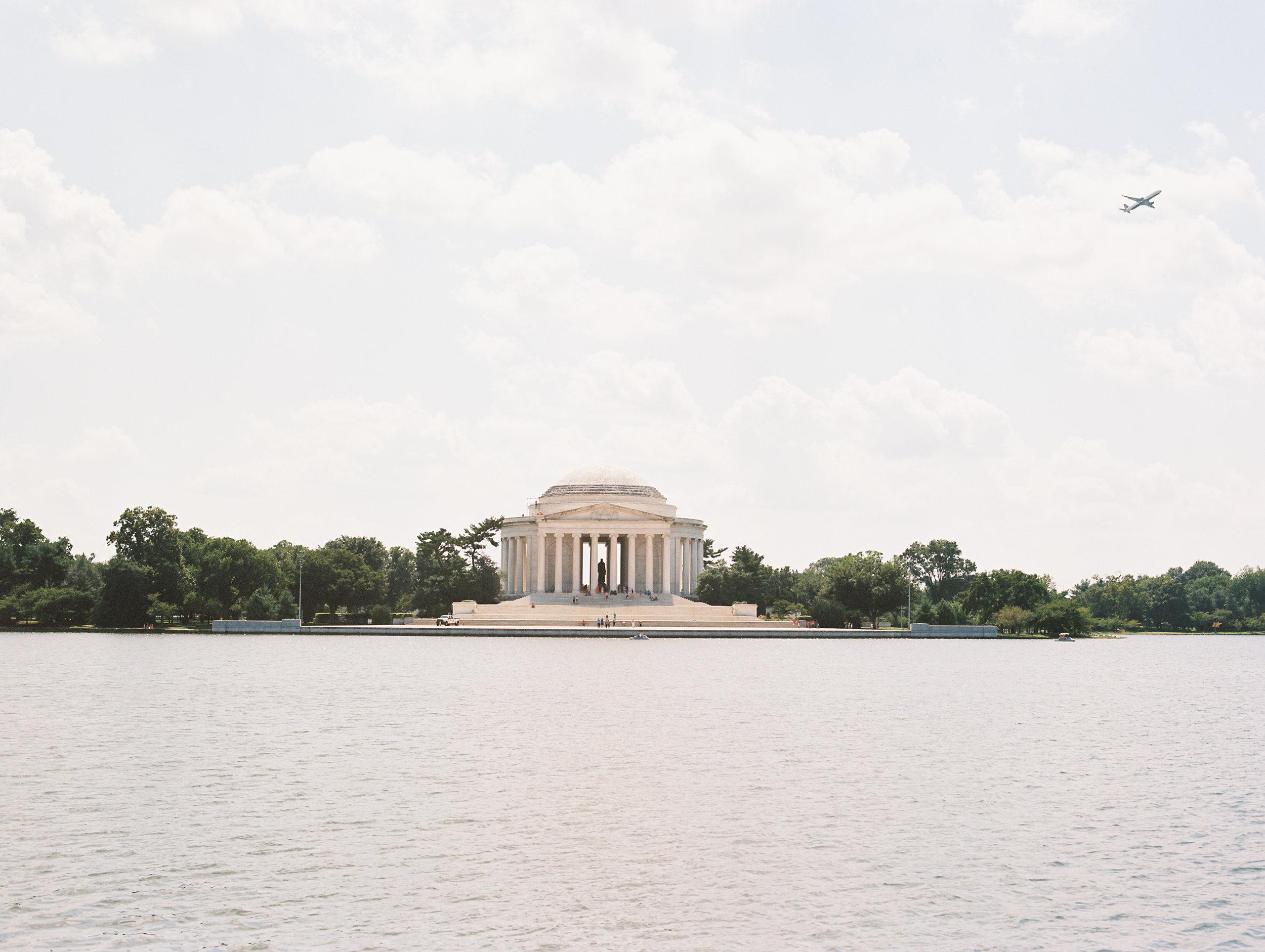 Thomas Jefferson Memorial with Airplane