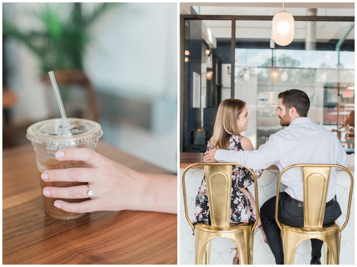 east pole coffee co engagement session