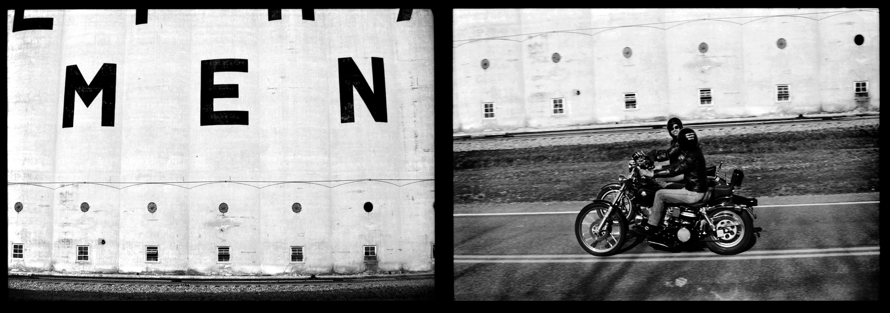 Route 611 near Easton, PA  (diptych) 1978