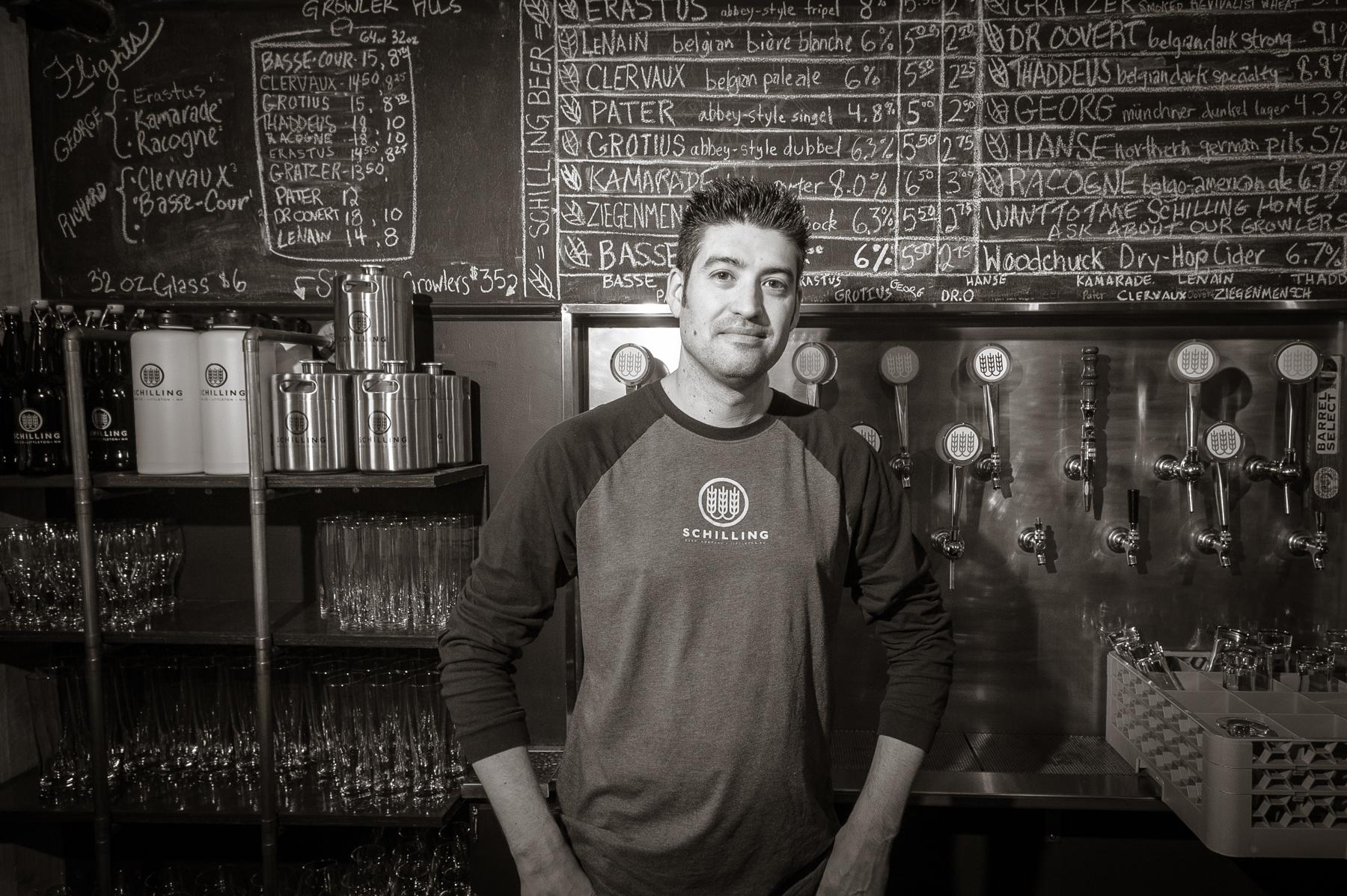 Bartender Jeremy Hand   Schilling Beer Co. Littleton, NH 2014
