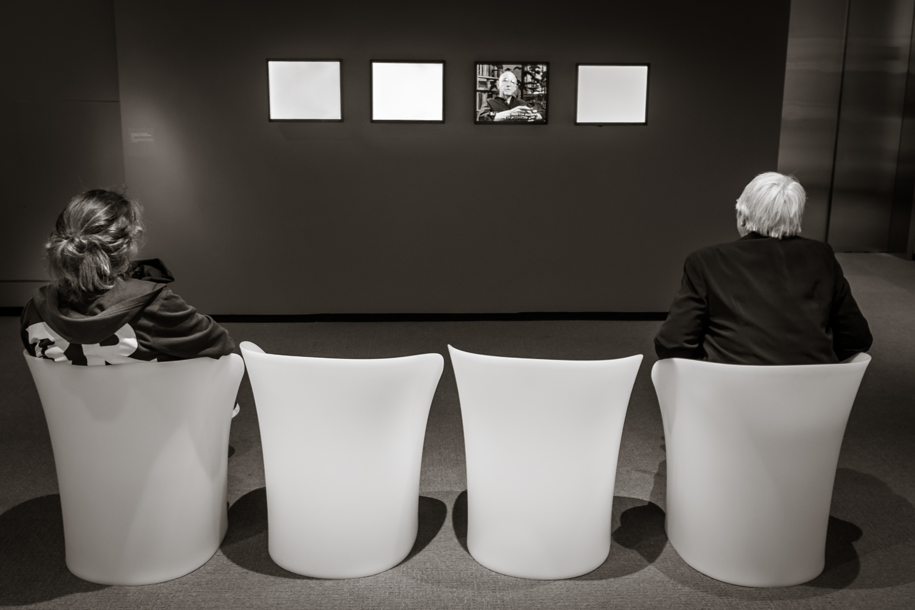 photographer Duane Michals, pre-recorded, at his career retrospective   Peabody Essex Museum, Salem, MA 2015
