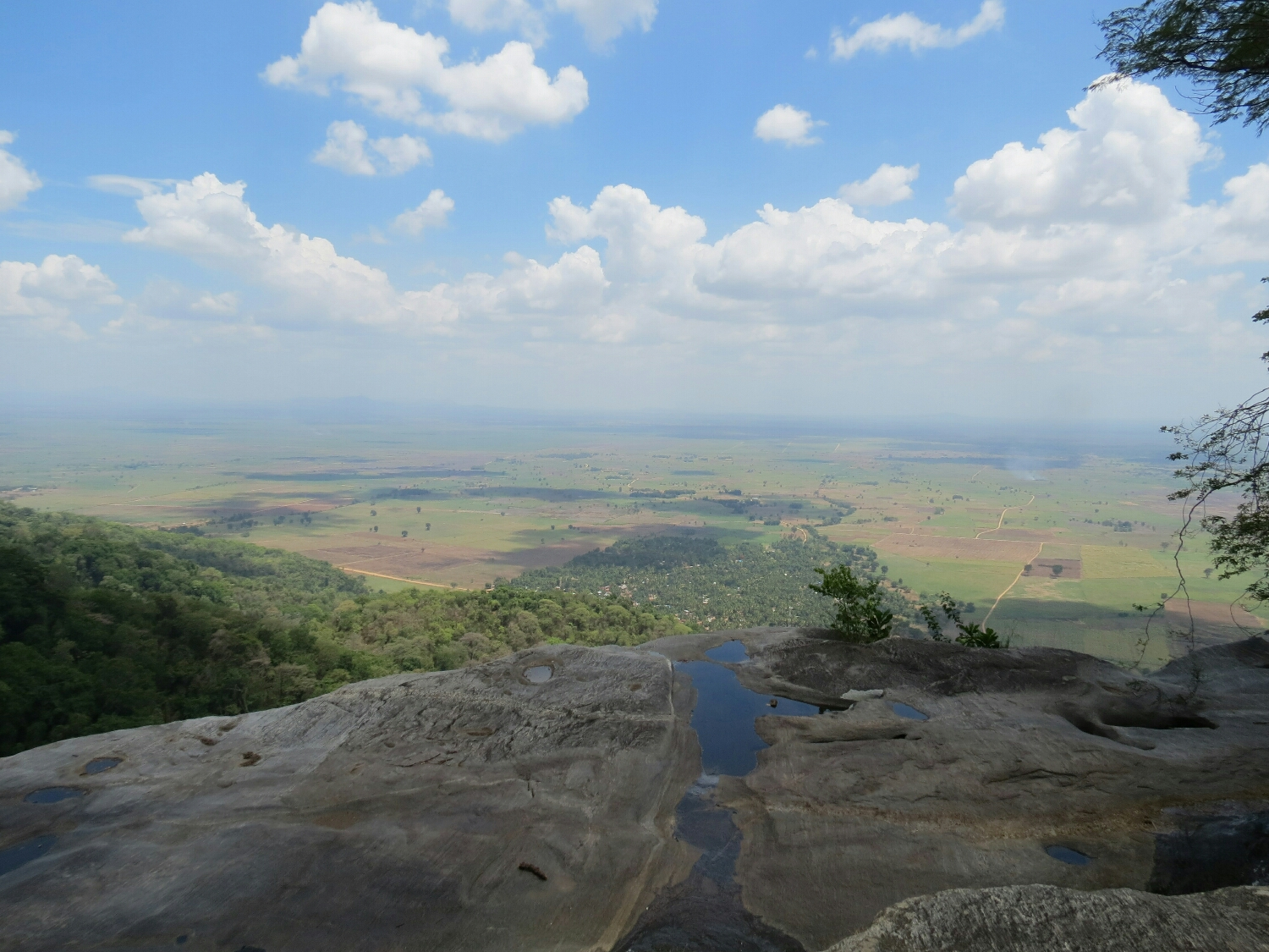 The view of the valley from the top of Sanje Falls hike.