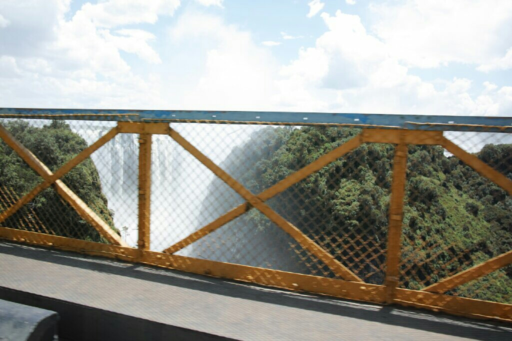 Crossing back into Zambia over the gorge. Photo: K. Fleurial