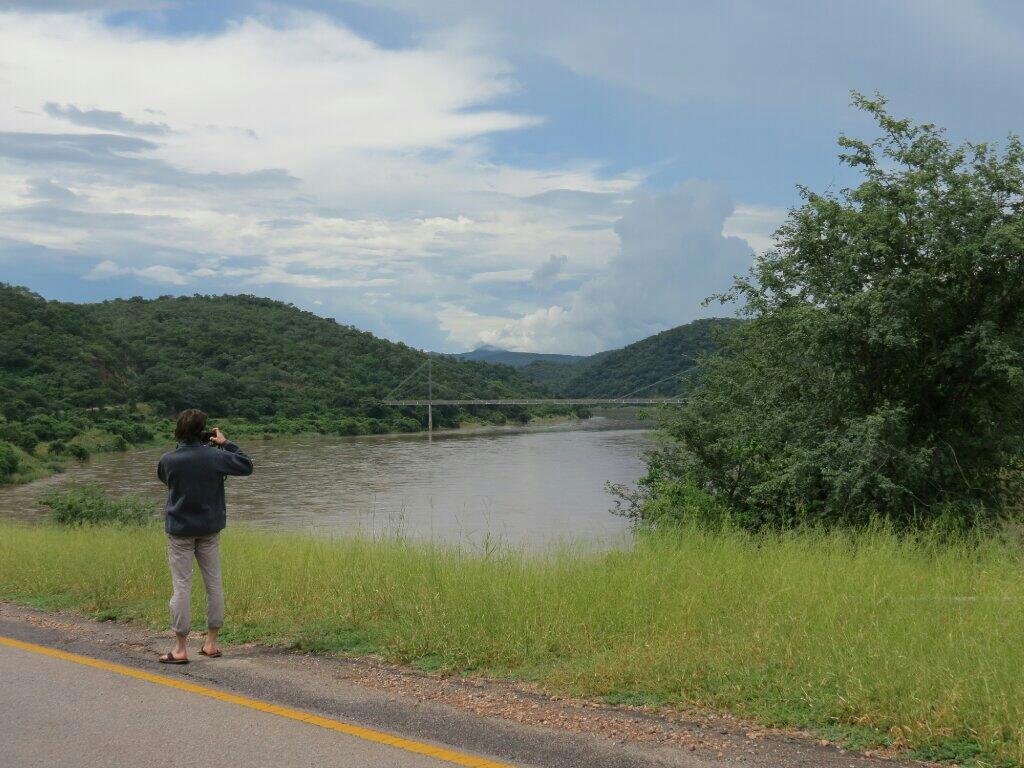 The bridge over the Luangwa river.