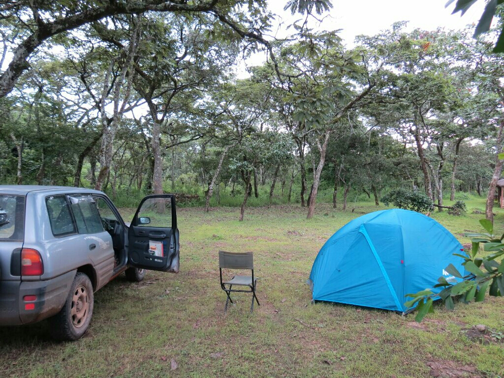 The hidden puddle campsite at Chimfunshi.