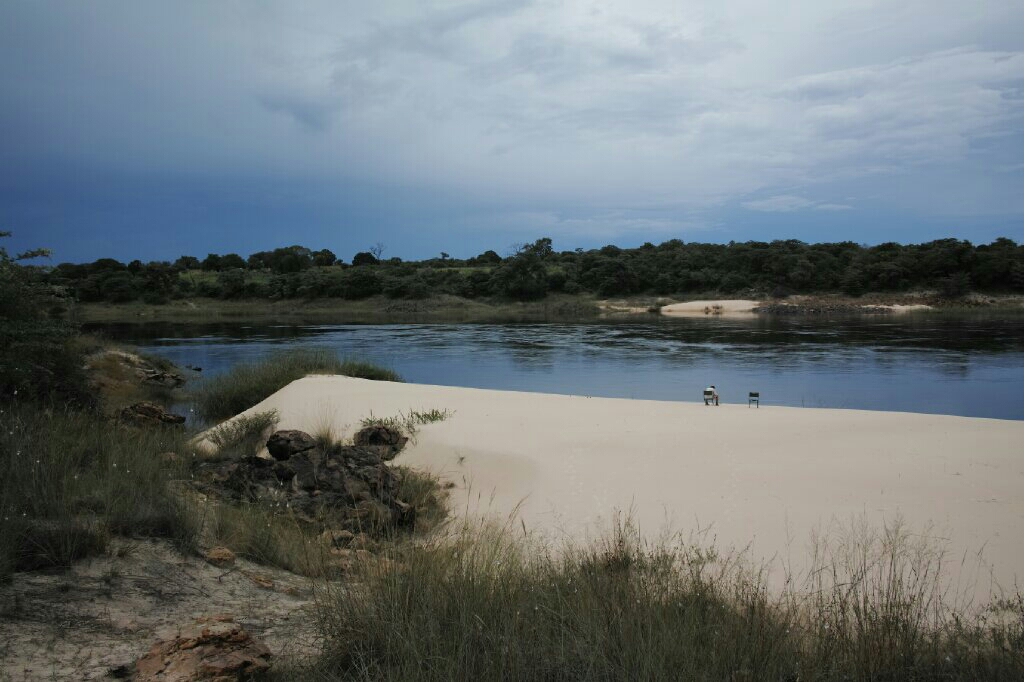 Our own private sandbank beach on the Zambezi at Sioma camp. Photo: K. Fleurial