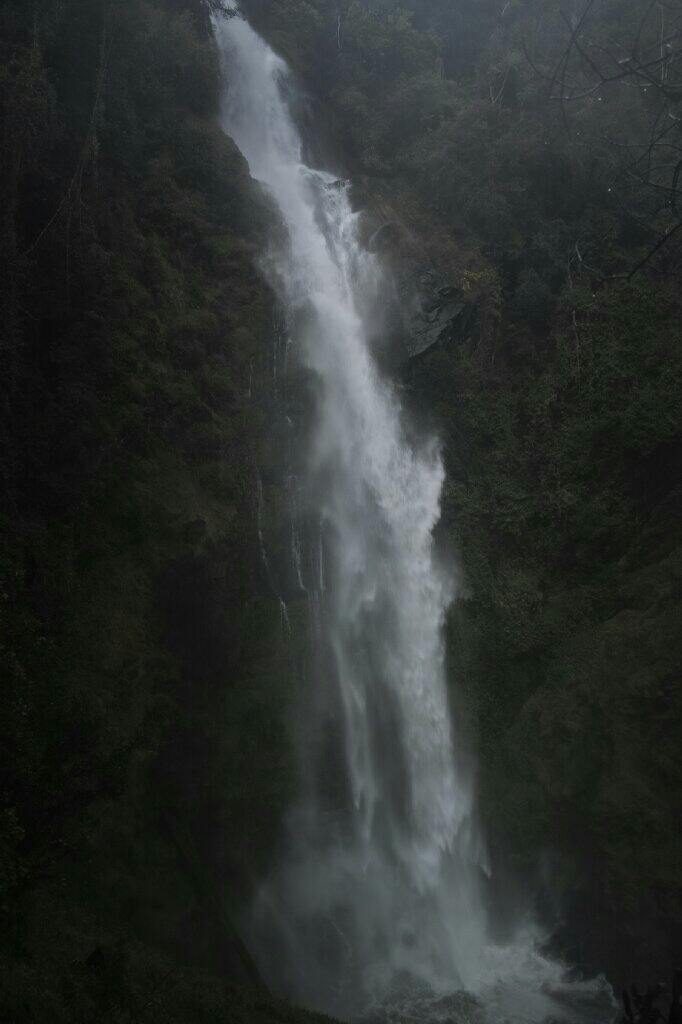The waterfall. Picture does no justice because you're not dripping wet. Photo: K. Fleurial