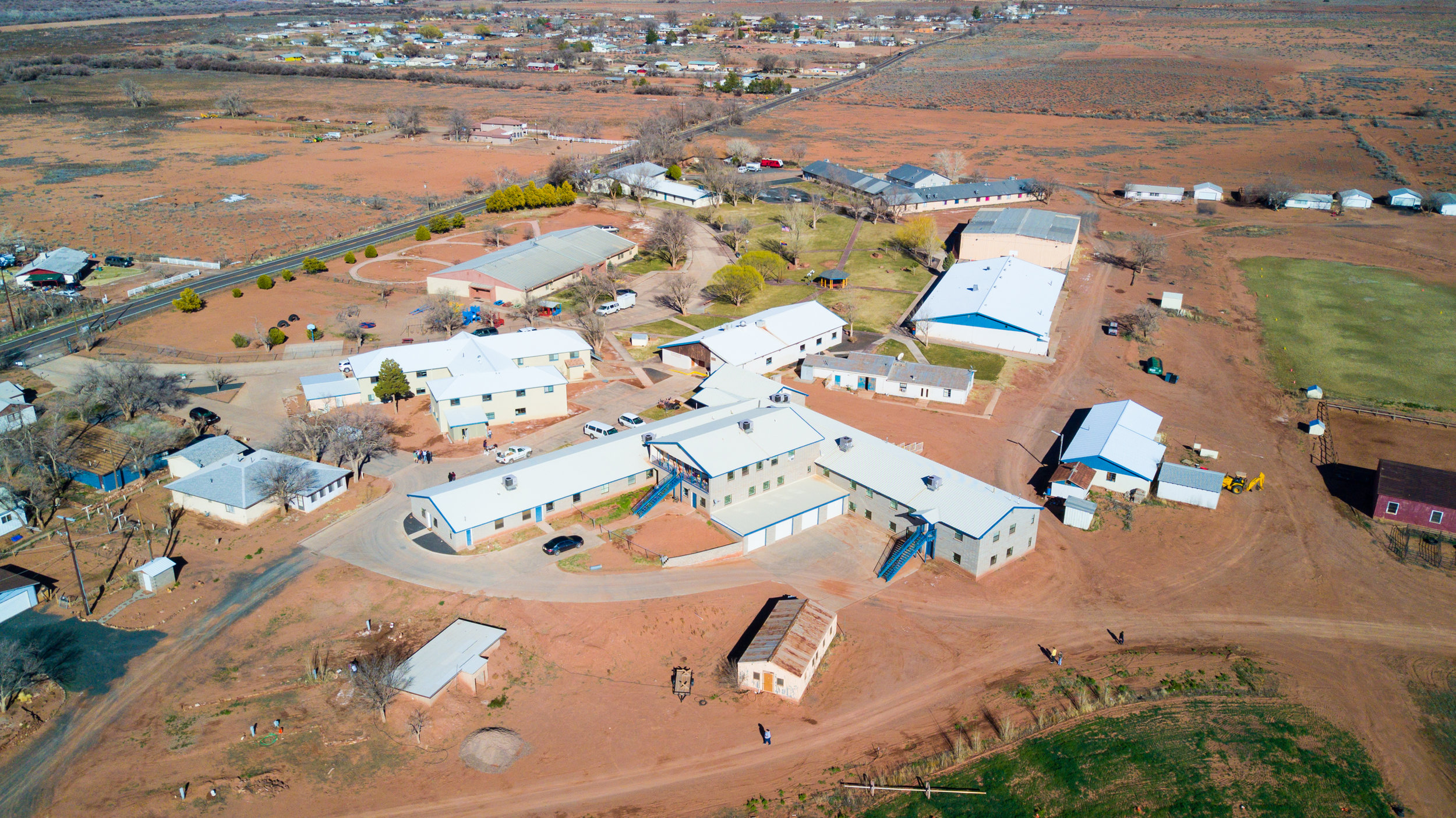 Aerial view of Holbrook Indian School today