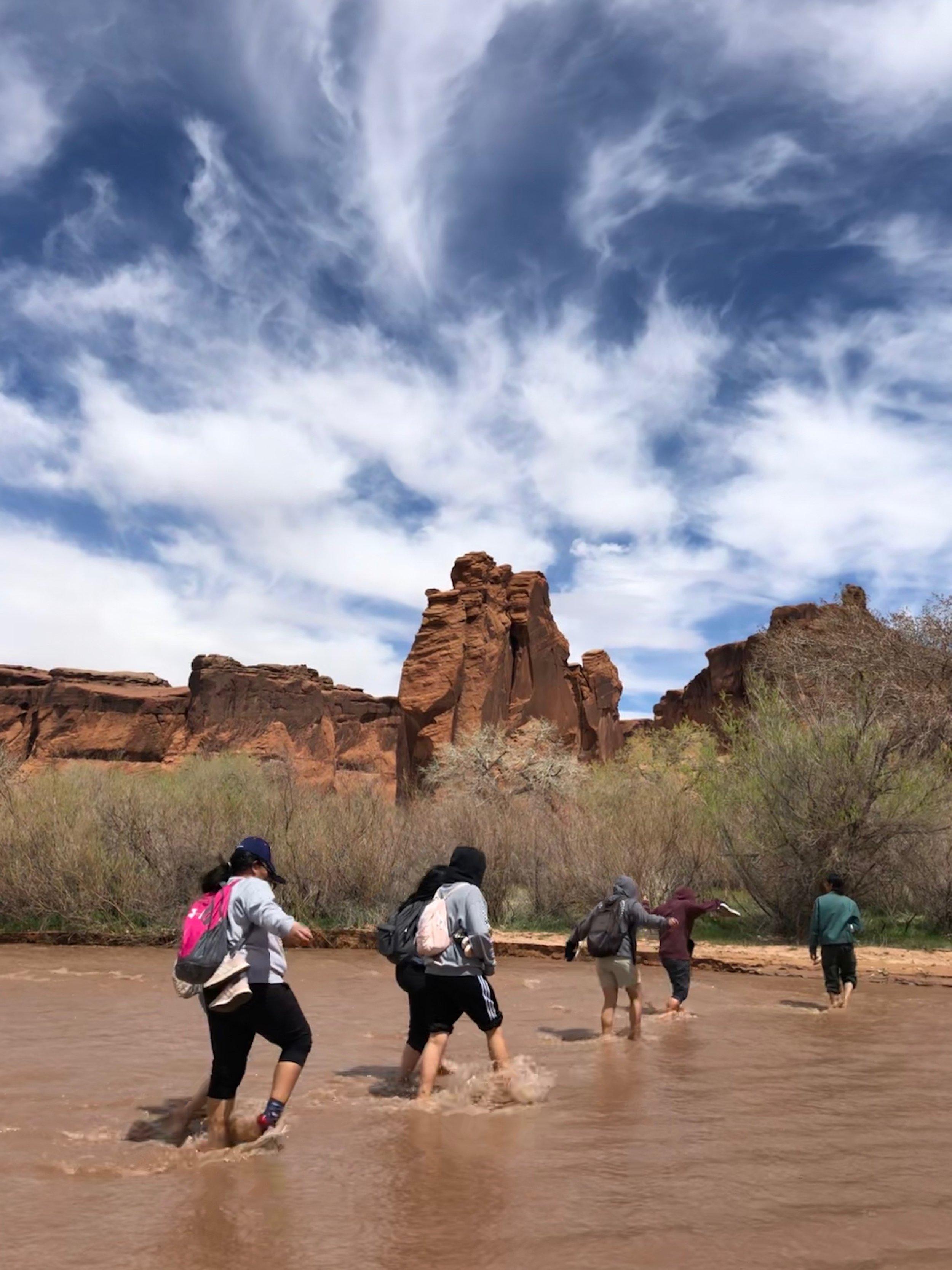 Students retracing Navajo long walk