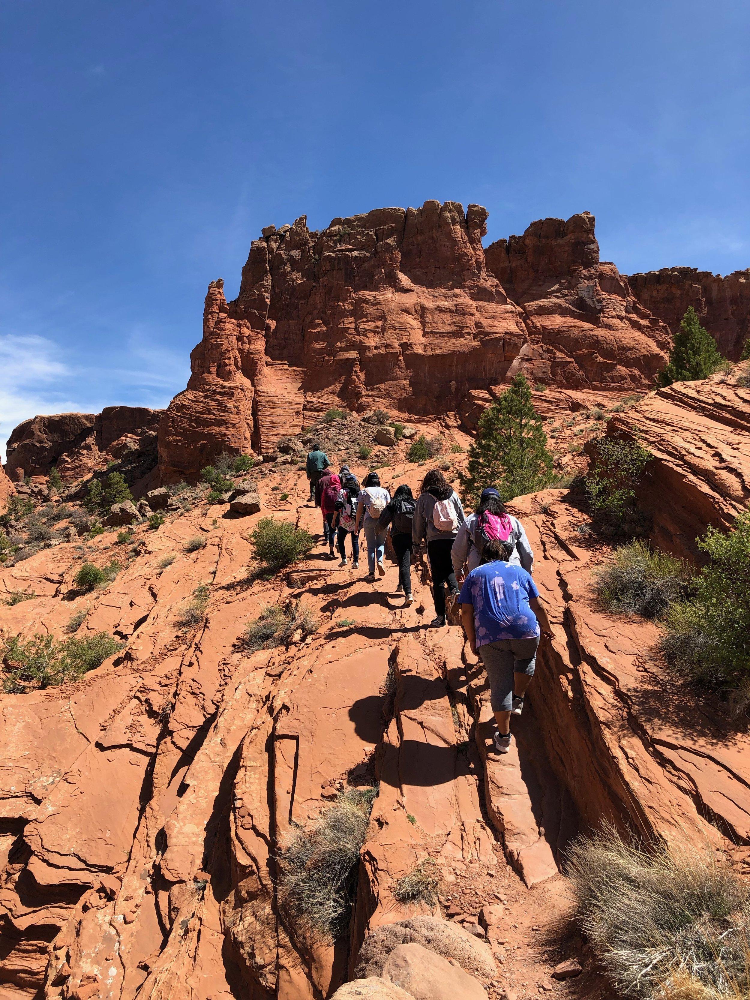 Students walk Navajo long walk