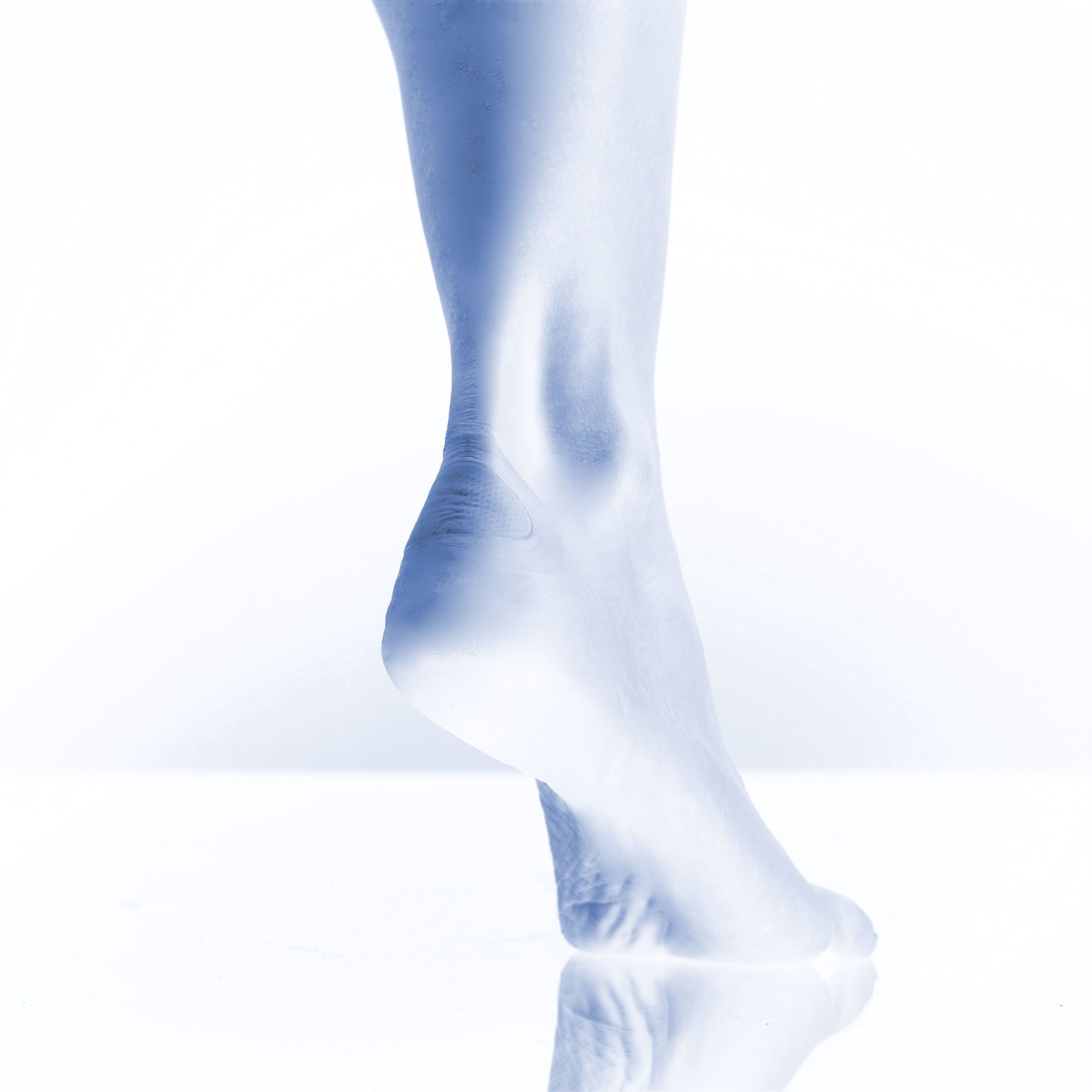 transparent, cushioning plasters for  footcare