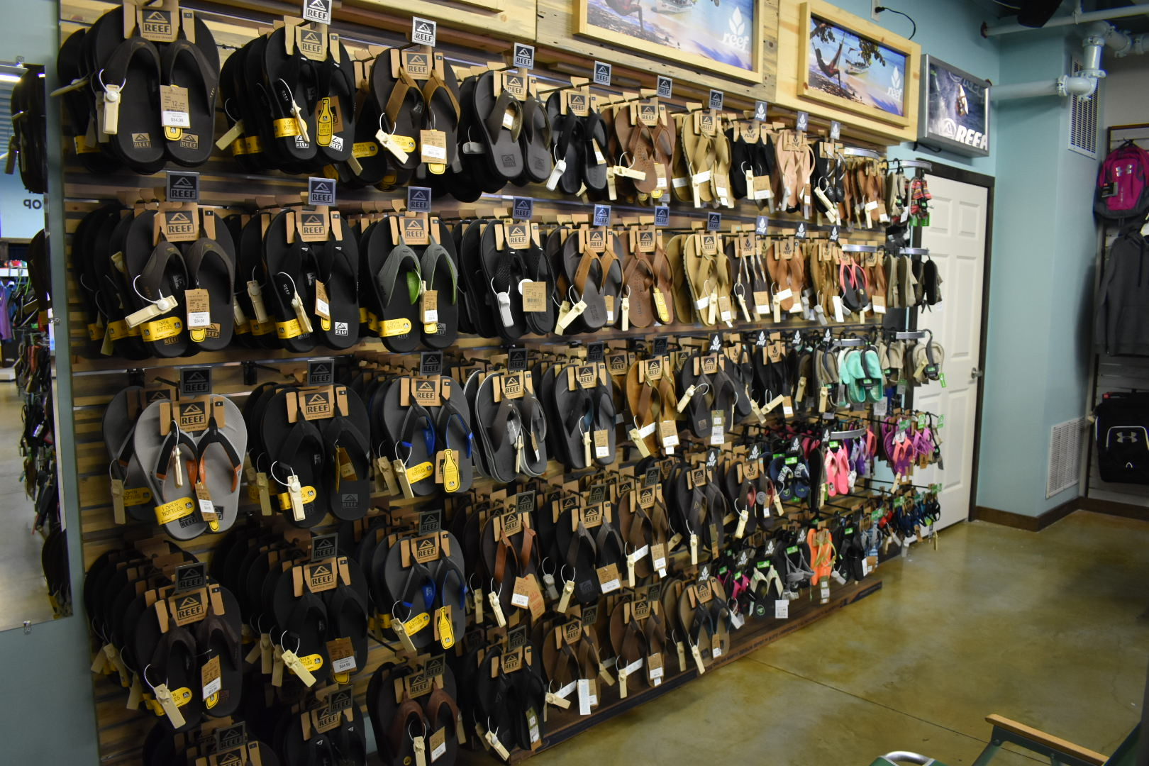 THOUSANDS OF SHOES….. - FROM BRANDS LIKE REEF, SANUK, RAINBOW, AND UNDER ARMOUR