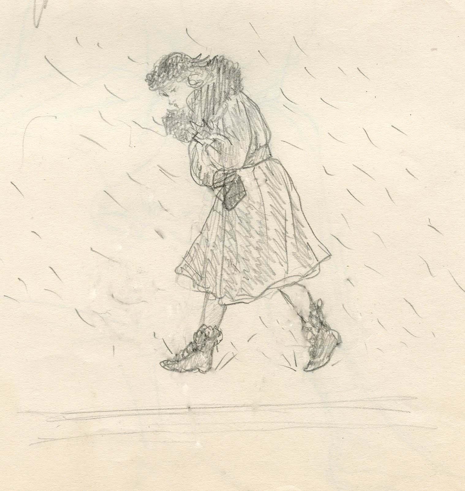 MSB, Winter in the City, Cartoon Series, New York, 1941.