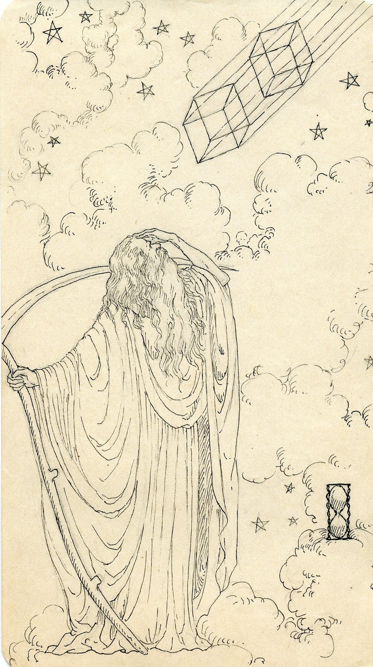 MSB, Illustration, for an essay on Time, 1930's.