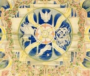 """Center of """"Kubla Kahn Mandala."""" c. 1936"""