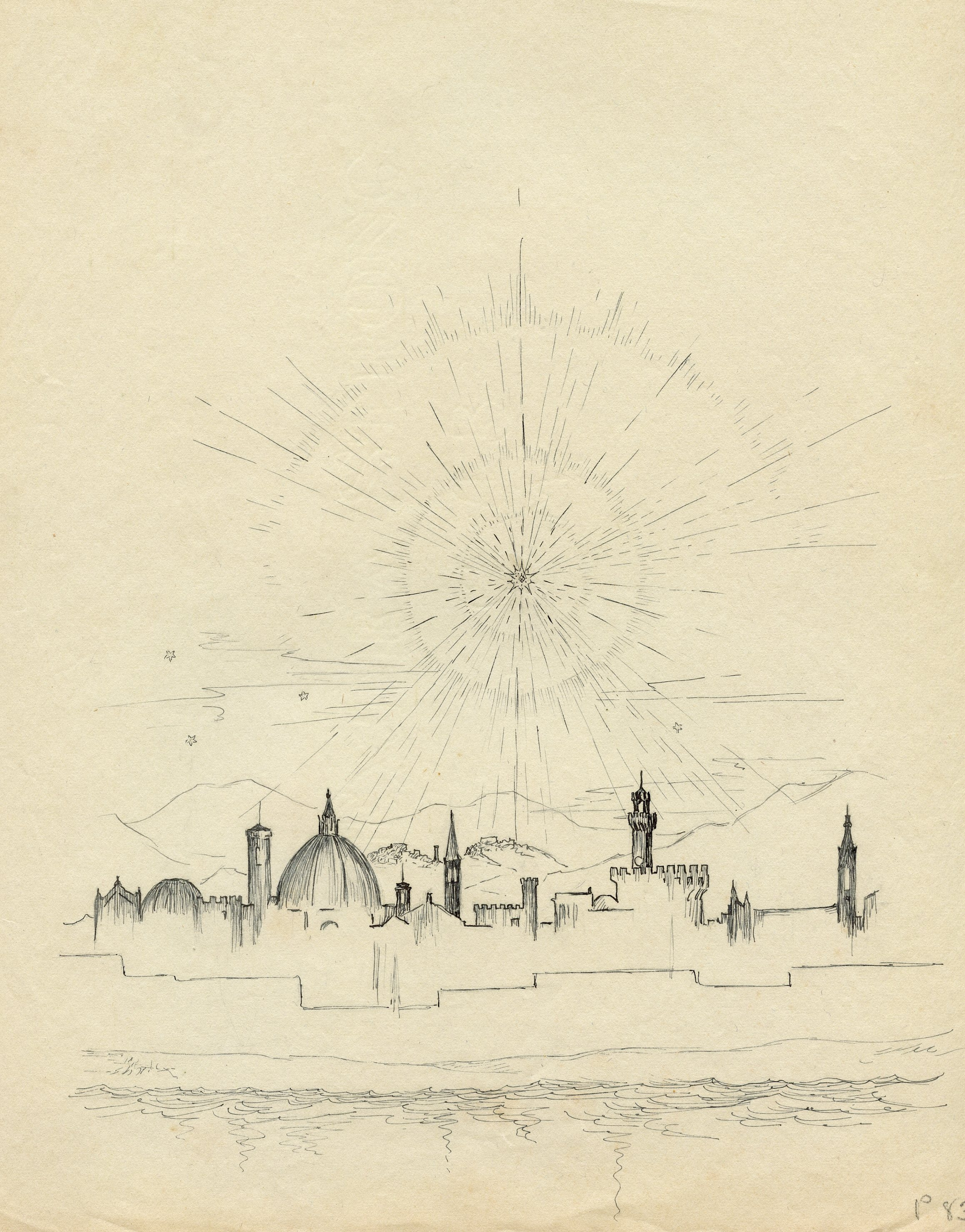 View of  Florence. Florence Series, 1928-32.
