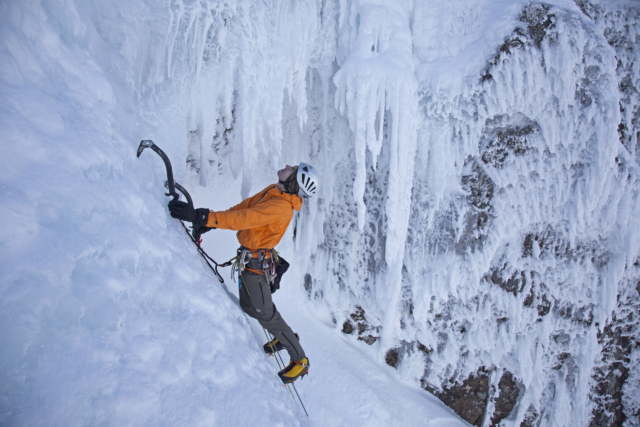 Andy Cave Climbing Stand and Deliver on Aonach Beag Pic Paul Diffley Hot Aches Productions.jpg