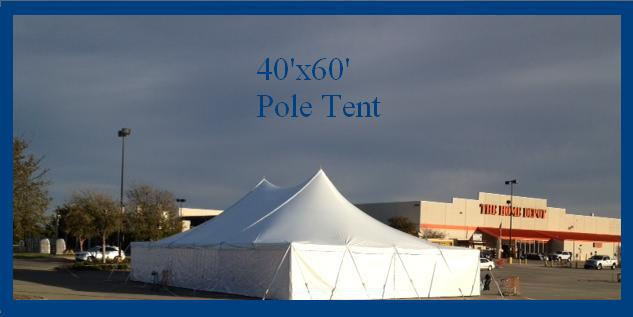 Tent From at once party rental.