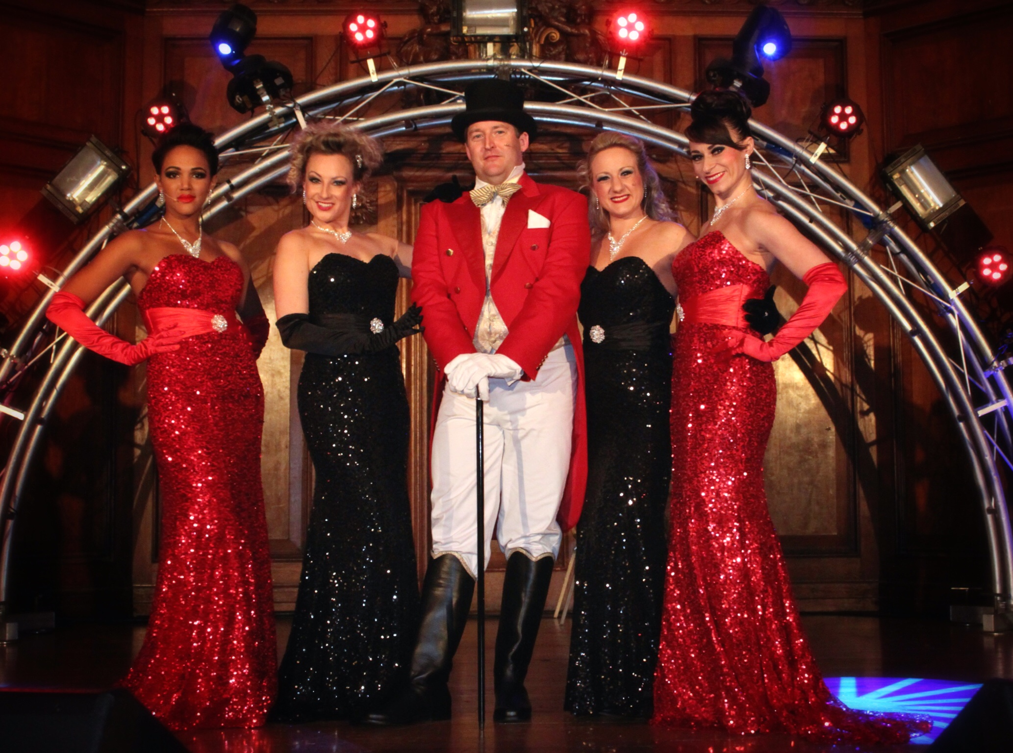 Our ringmaster and the Moulin girls