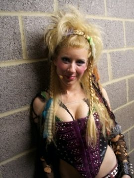 Lauren as 'Meat' in We Will Rock You