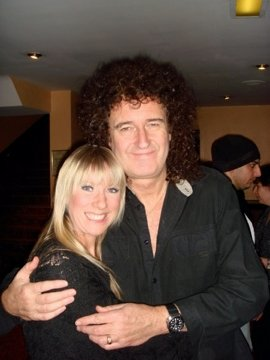 Lauren with Rock Legend Brian May