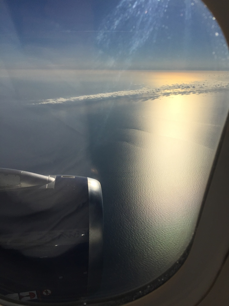 The window seat on my flight to Barcelona. Can't beat that view of the Mediterranean Sea in my book. And the clouds! Which team are you? #TeamWindow