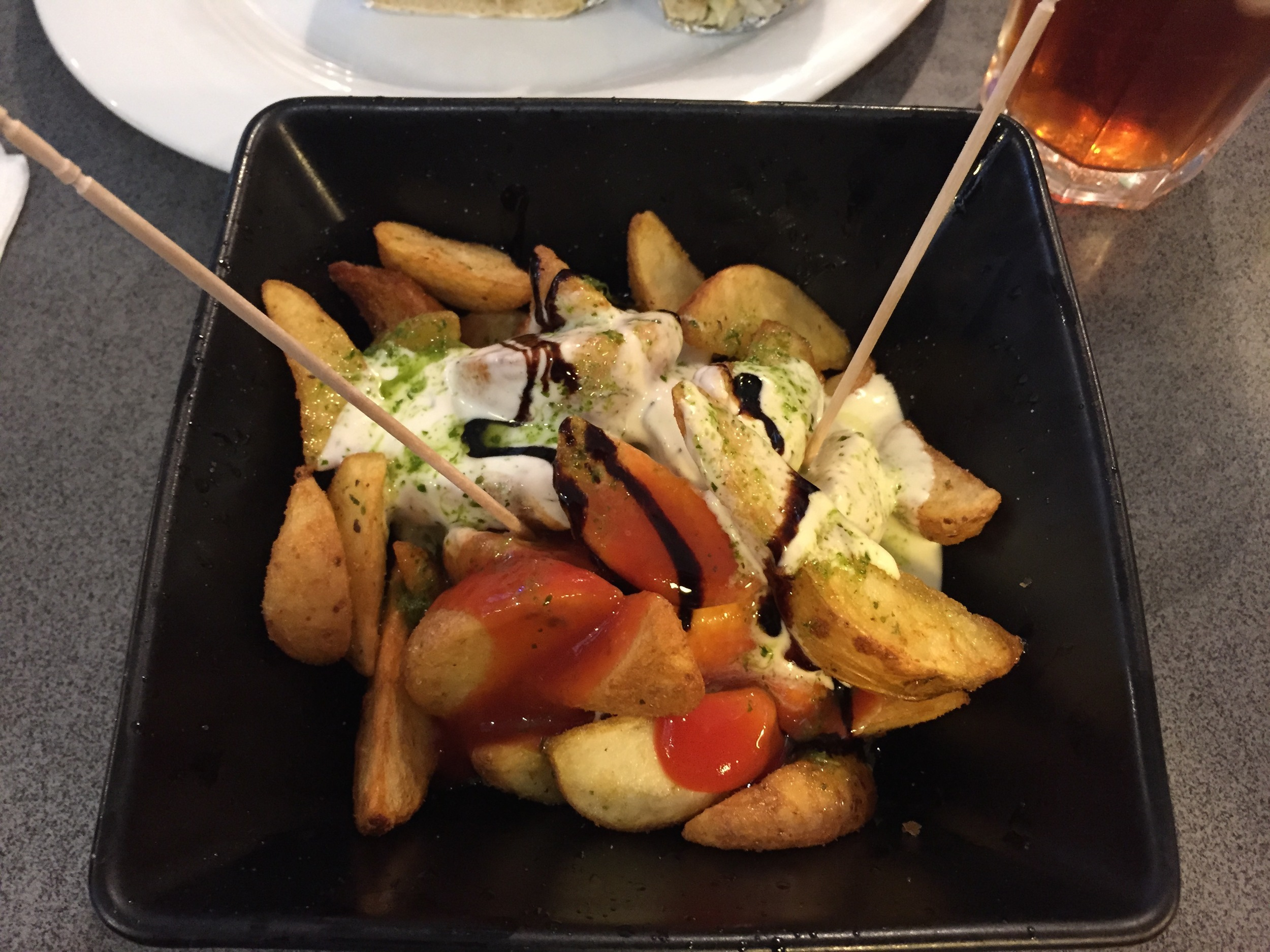 Patatas bravas at #BodeB wish I saved room for more of these after eating that huge sandwich