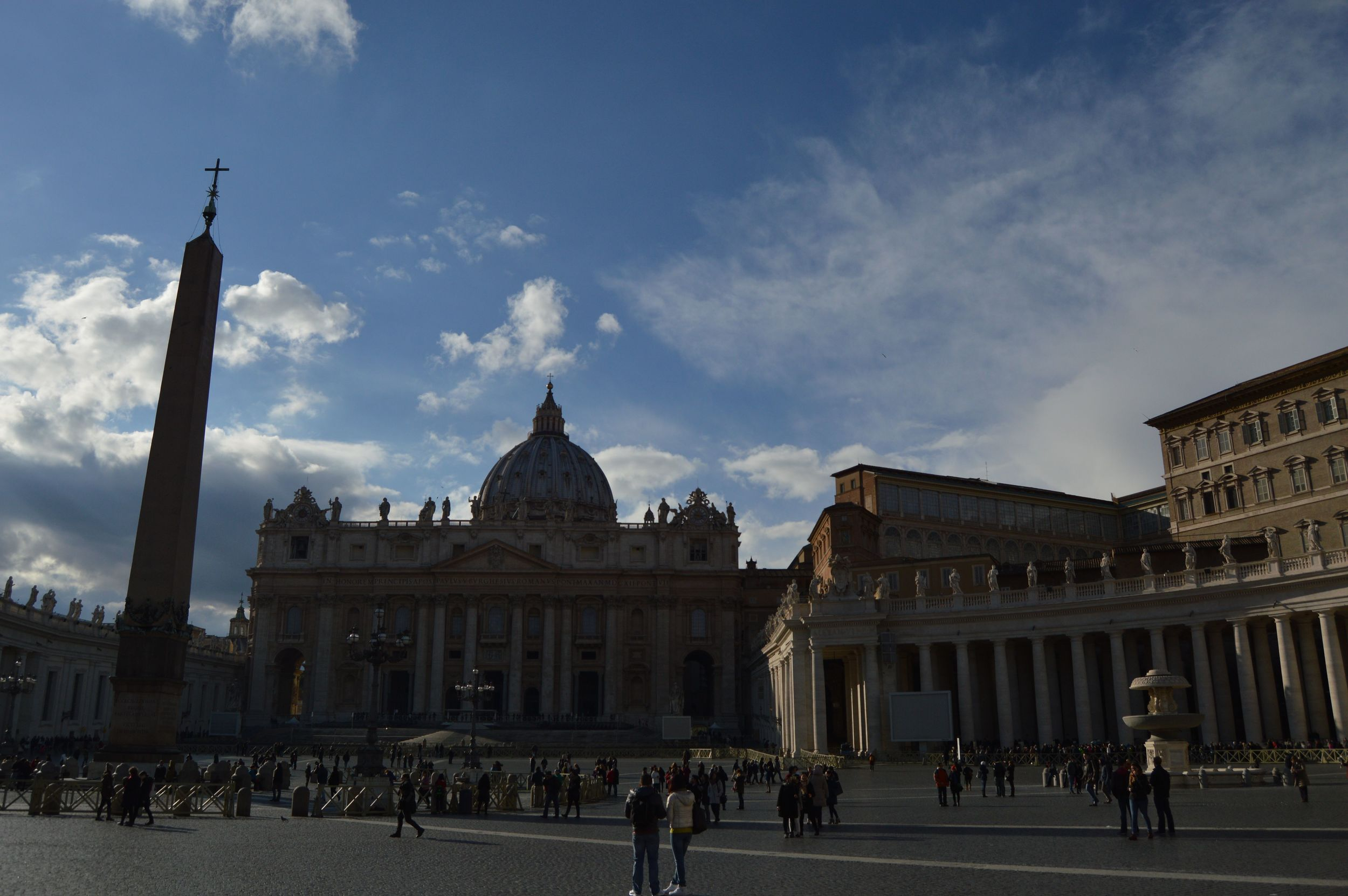St. Peter's Basilica/Square. One of my favorite parts and what I originally thought was the main event at the Vatican. Photo by Max Siskind.