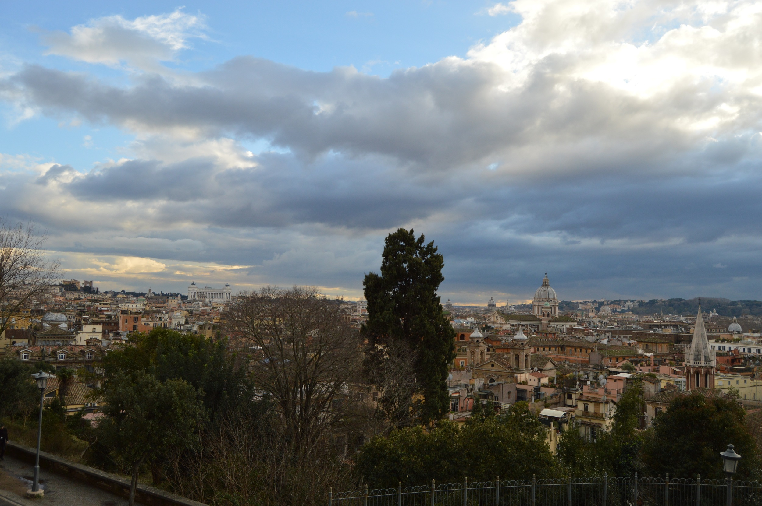 Wide view from Villa Borghese, up past the top of the Spanish steps. The best (and my favorite) view of Rome that I got all weekend. Photo by Max Siskind.