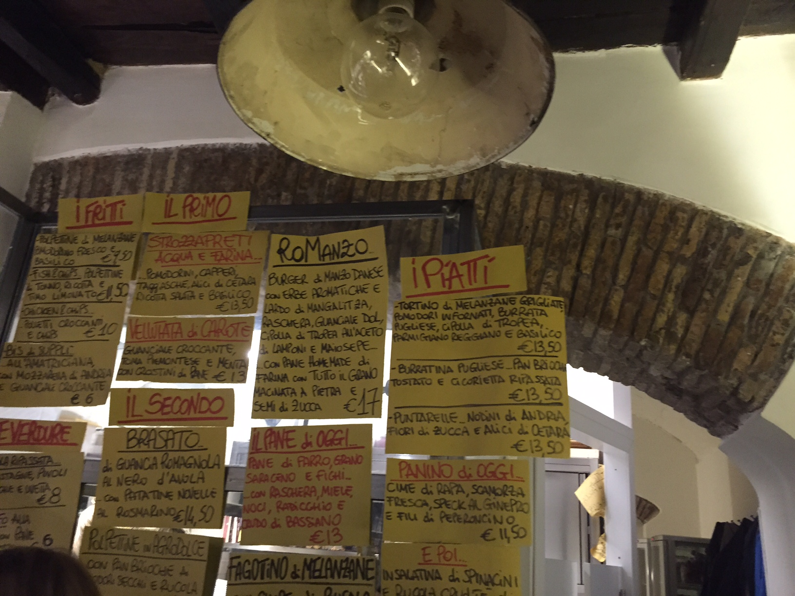 The construction paper menu in all of its glory. Photo by Max Siskind.