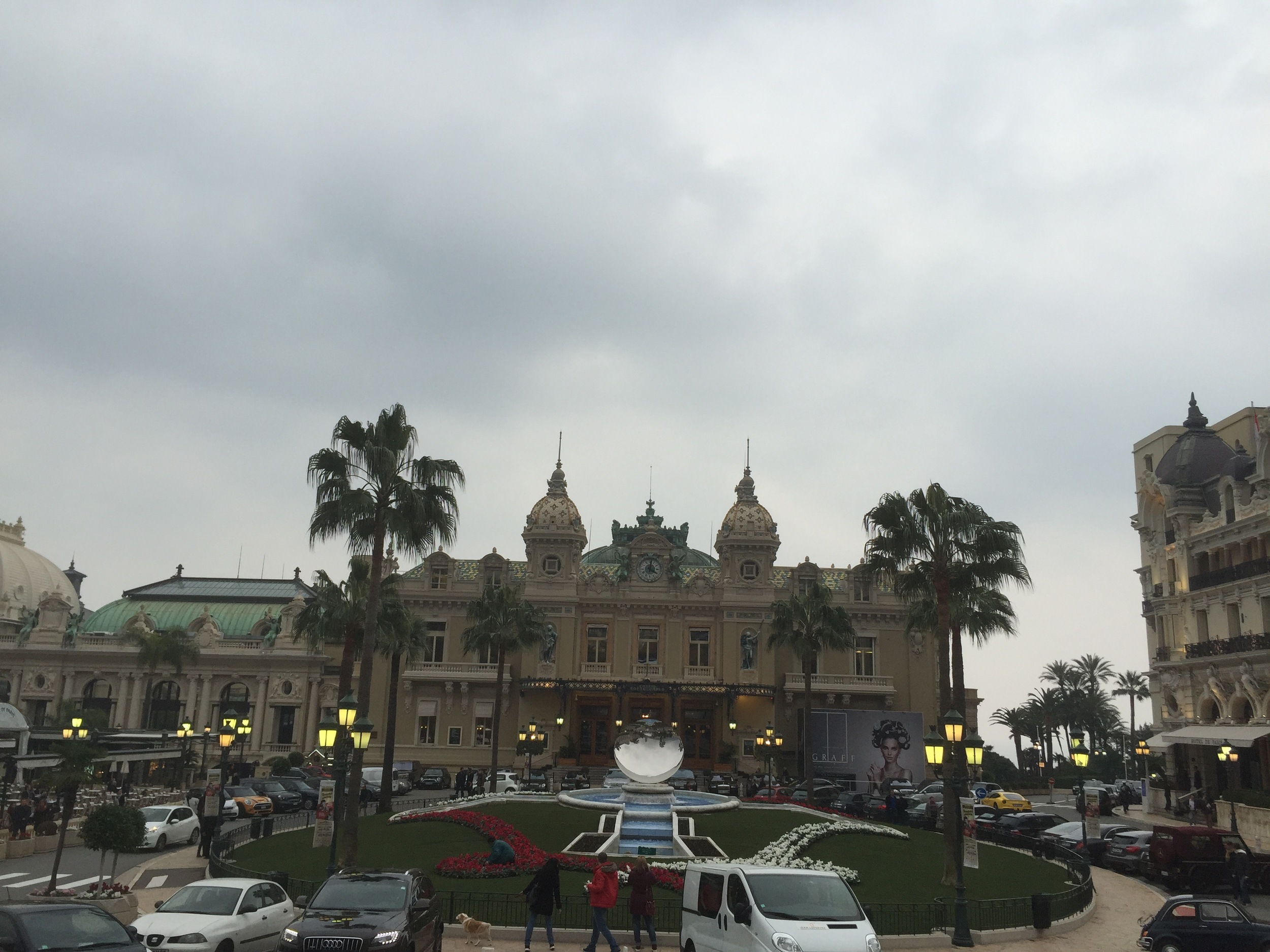 The Casino Monte-Carlo from the outside. Dope, right? At least the weather cooperated long enough for me to snap this. Photo by Max Siskind.