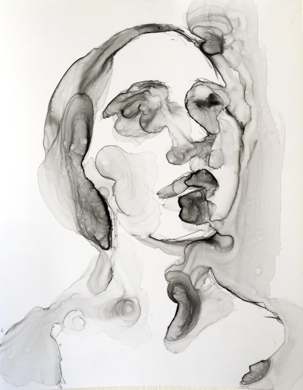 """CGB   2015 Ink on paper 11"""" x 8"""""""