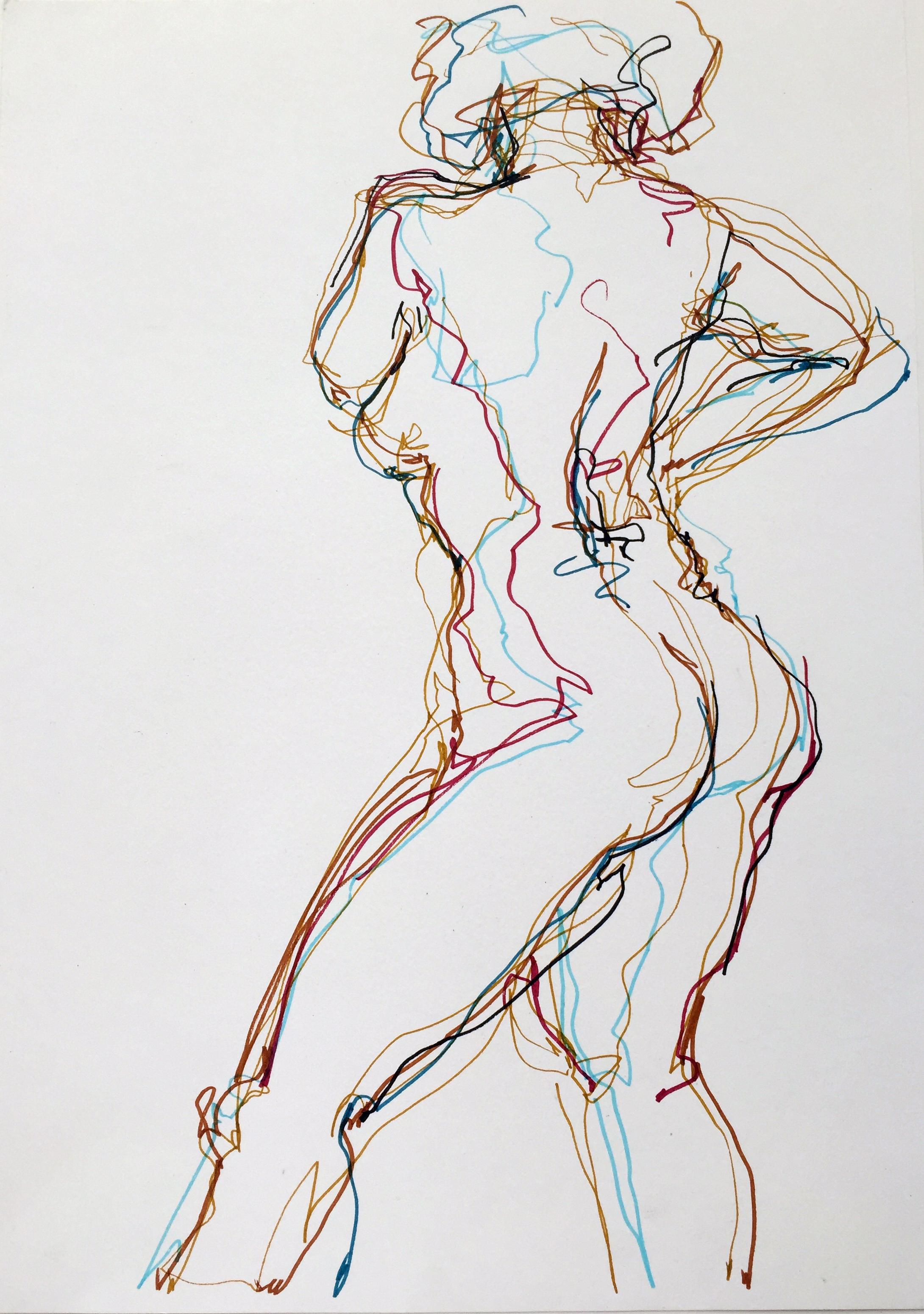 "Nude 22  2016 Pen on paper 16"" x 11"""